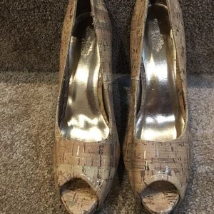 Shoes - New-never worn Cork style heels size 8